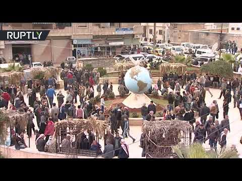 العرب اليوم - شاهد: مظاهرات تأييد لبشار الأسد وسط عفرين