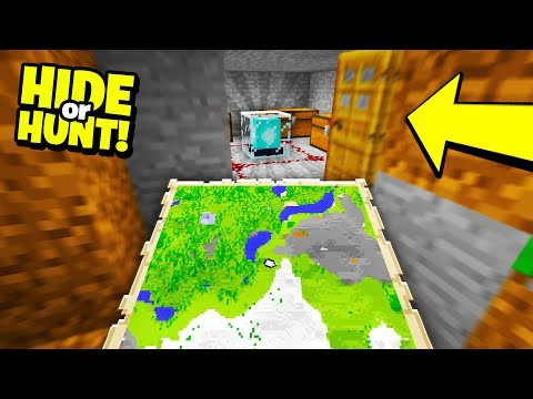 Finding a TREASURE MAP to SECRET BASE! - Hide Or Hunt #3