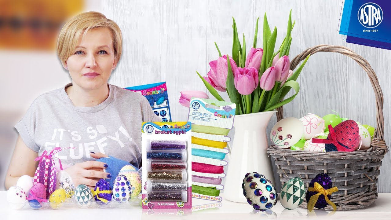 Rafie, sznurki i naklejki dekoracyjne na Wielkanoc od firmy ASTRA