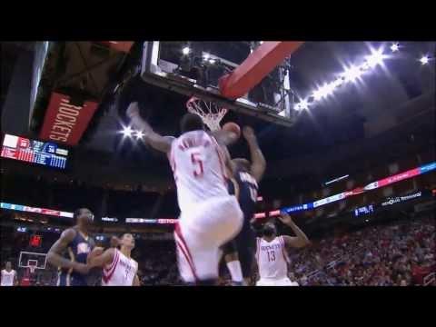 Jordan Hamilton's block leads to a Jeremy Lin layup