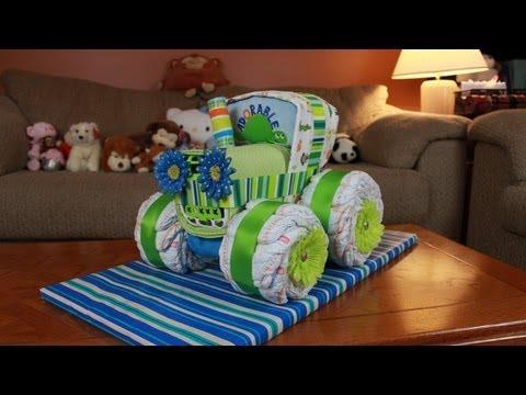 Diy Tractor Diaper Cake