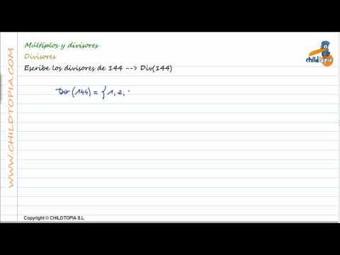 Vídeos Educativos.,Vídeos:Múltiplos y Divisores 4