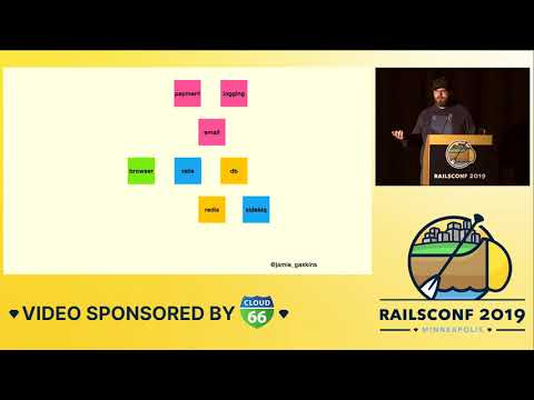 RailsConf 2019 - Service Architectures for Mere Mortals by Jamie Gaskins