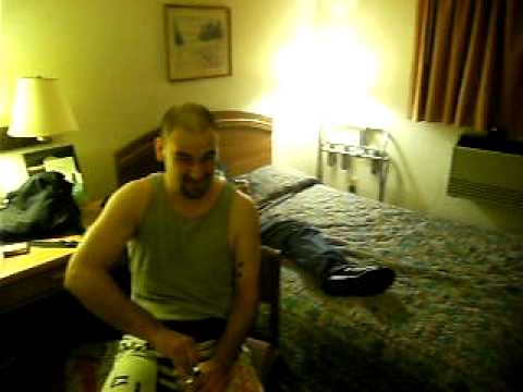 Year 200X and some fat guy in a hotel room