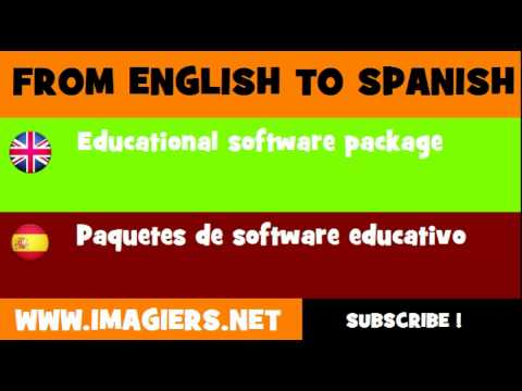 FROM ENGLISH TO SPANISH = Educational software package