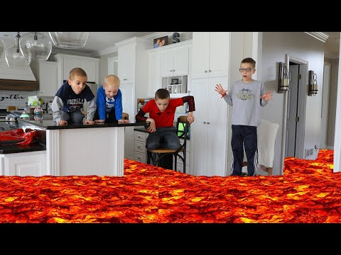 Floor is Lava! Stay Home Stay Safe Have Fun! (Day 1 in Quarantine)