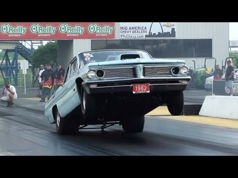 Pontiac - This is a video of an awesome 9 Second, 1962 Pontiac Catalina. This Super Stock Pontiac was racing in the Nostalgia Drags at Gateway Motorsports Park, just o...