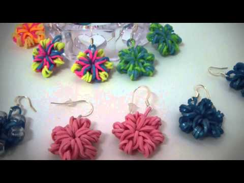RAINBOW LOOM – Rubber bands Earrings ,Rings, bracelets Collection
