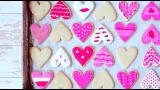 Valentijnskoekjes versieren