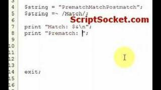 Perl Tutorial 107 - Pattern Matching: Pre-Match / Post-Match