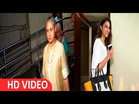 Jaya Bachchan And Parineeti Chopra Watch Movie Pink Spotted