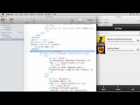 Build a Mobile List Based Web App in 12 minutes with jQuery Mobile (видео)