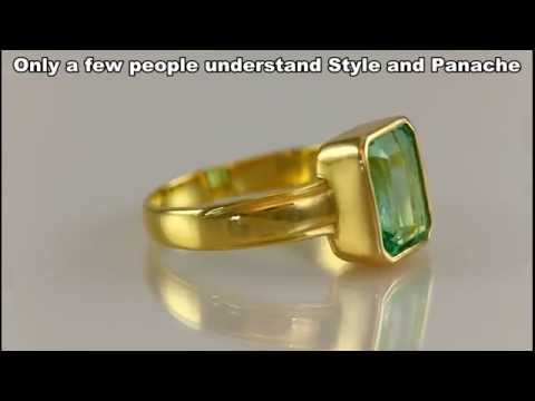 Emerald ring in Gold for Mercury Powers