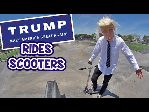 DONALD TRUMP SCOOTERING!