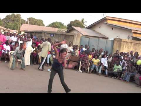 """African Dance"": Dundunba #4 Community  African Drum and Dance party in Guinea, West Africa"
