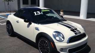 NEW / DEMO 2013 MINI Cooper S COUPE For Sale In Tampa Bay - Call For Price Specs And Review
