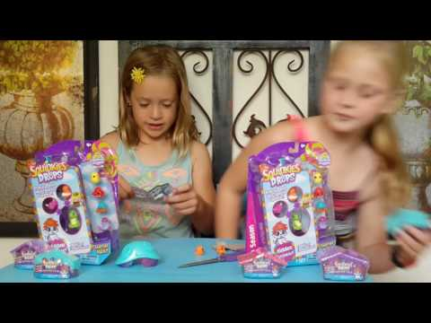 Chloe's Toy Box      opening squinkies mystery villa  and 6 pack (видео)