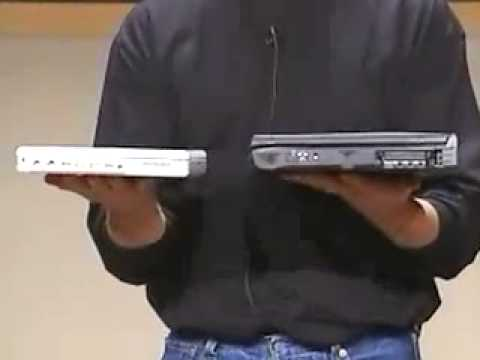 ibook - Here we see Steve Jobs introducing the all new redesigned iBook G3 in 2001.