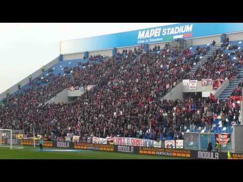 IMPRESSIONANTE coro ripetuto degli ultras bolognesi (sassuolo-BOLOGNA)