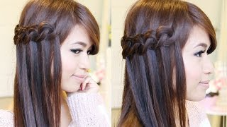 Easy Knotted Waterfall Braid Hairstyle | Hair Tutorial - YouTube