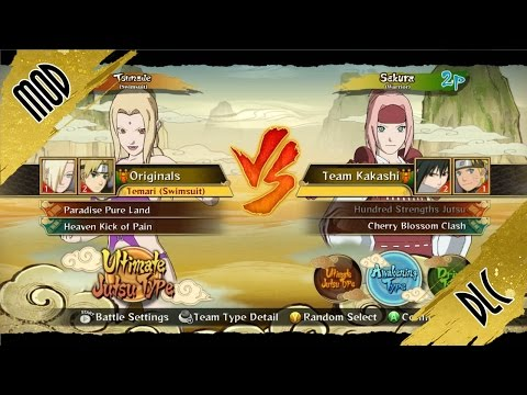 Naruto STORM Revolution™ Costume Tsunade Swimsuit Bikini MOD Girls vs Sakura DLC's Samurai! Gameplay