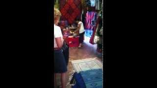 Buying Oaxacan handmade rugs in San Miguel de Allende