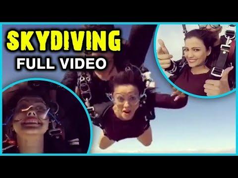 Adaa Khan Enjoys SKYDIVING   FULL VIDEO   Travel D
