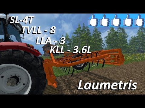 Laumetris trailed arrow type harrow cultivator SL-4T v1