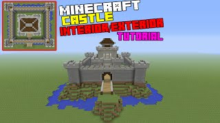 Minecraft Tutorial: How To Make A CASTLE Interior/Exterior (Inside and Outside)