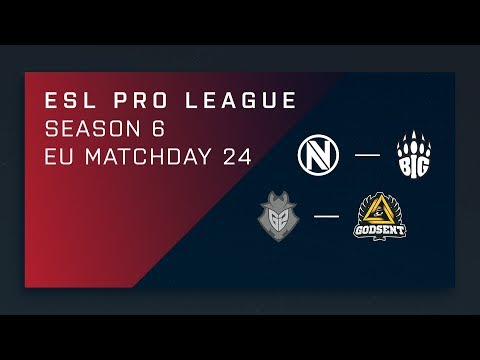 CS:GO: EnVy vs. BIG | G2 vs. GODSENT - Day 24 - ESL Pro League Season 6 - EU Main Stream
