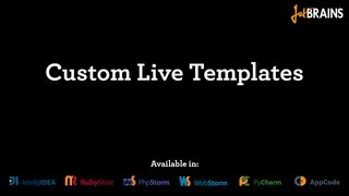 High-speed coding with Custom Live Templates