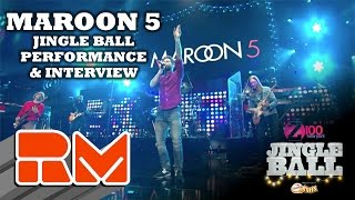 See more performances/interviews from Z100's Jingle Ball at: http://www.realmagictv.comThis quick glimpse of Z100's Jingle Ball spotlights  Maroon 5 on stage and behind the scenes at Madison Square Garden.Real Magic TV has all of the high-definition interviews and performances from New York City's hottest concert of the year: Z100's Jingle Ball 2014. Go backstage and in the front row at Madison Square Garden, featuring appearances and performances from Maroon 5, Ariana Grande, Sam Smith, Iggy Azalea, Pharrell, 5 Seconds of Summer, Calvin Harris, Taylor Swift, OneRepublic, Jessie J, Meghan Trainor, Charli XCX, Shawn Mendes, Rita Ora, Rixton, Nick Jonas, Sarah Jessica Parker, Emma Roberts, Elvis Duran, and Ryan Seacrest at this year's mega event.You can interact with all of the artists by submitting questions for them for future Real magic TV tapings. Check out the individual artist profile pages on the official Real Magic TV site.