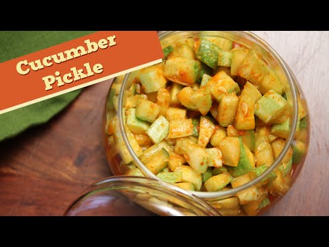 Cucumber Pickle | Instant Indian Pickle Recipe | Divine Taste With Anushruti
