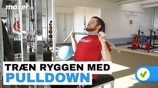 Rygtræning med pulldown