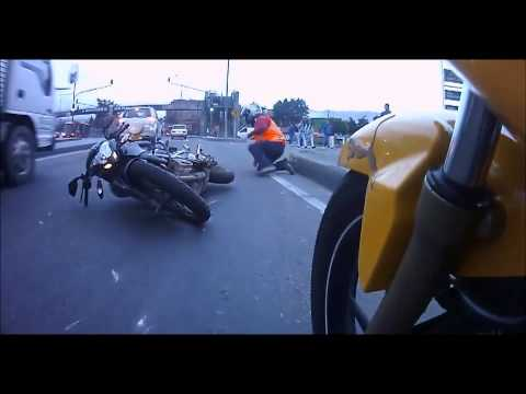 Bike goes down when rider gets reckless