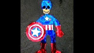 DIY capitán América esqueleto de papel día de muertos Halloween ideas paper skeleton