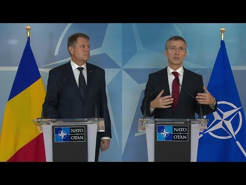 NATO Secretary General with President of Romania – Joint Press Point – 16 JAN 2015