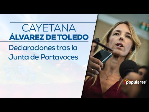 Declaraciones de Cayetana Álvarez de Toledo tras l...