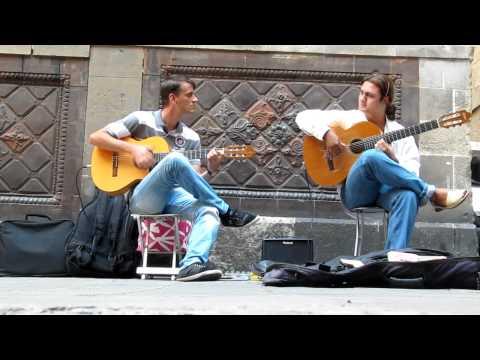 barcelona street guitarists