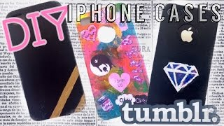 DIY Tumblr iPhone Cases! - YouTube