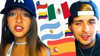 Imitando Acentos CON MI HERMANA (de 10 años) de España y Latino Americanos