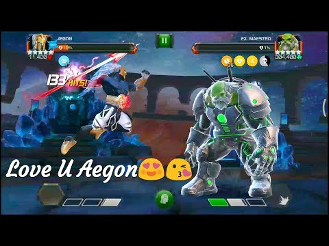 Laybrinth Of Legends Path1.. Aegon Vs Magik And Maestro In Mcoc By Devils Pain