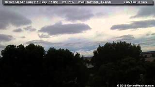 16 April 2015 - North Facing WeatherCam Timelapse