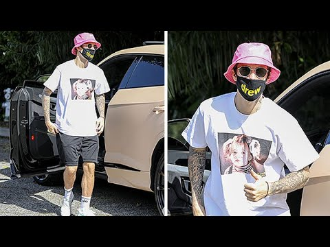 Justin Bieber Sports A Drew Barrymore Tee For An Afternoon Solo Hike