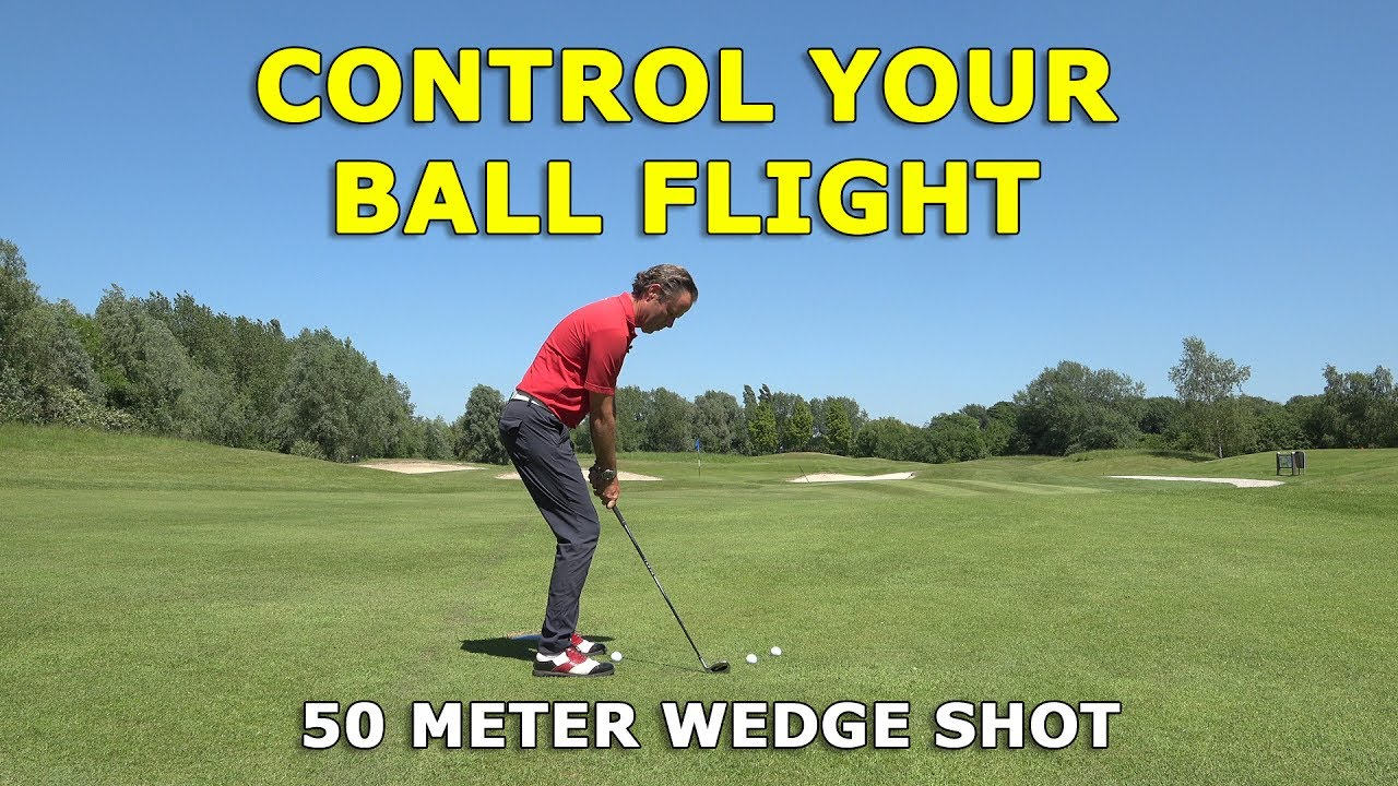 3 ball positions for a 50 meter wedge shot