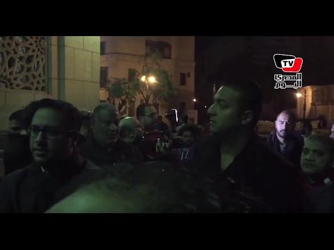 أحمد حسام ميدو في عزاء والد «كرارة»