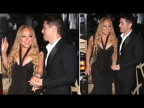Mariah Carey Shows Cleavage In Sexy Black Dress For Post-Concert Dinner With Bryan Tanaka