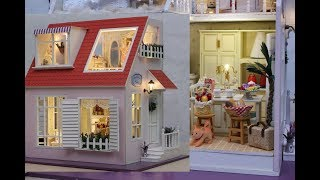 DIY Forever Cute Family Miniature Dollhouse Box with  Cats and Dogs part1