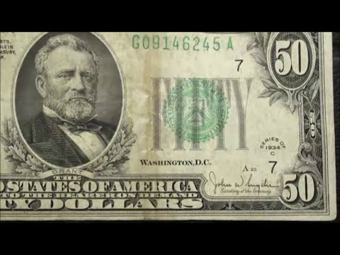 $50 BILL Currency Collectors dream find 1934 C FIFTY DOLLAR NOTE