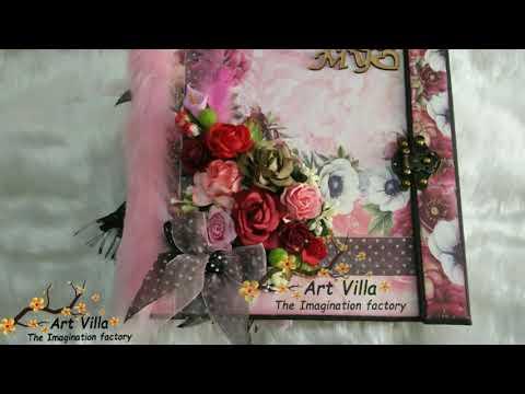 Scrapbook on love theme # Papericious # perfect Affair # Handmade Album